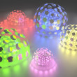 Abstract Background With Shining Spheres — Stock Photo