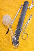 A manicure tool kit. — Stock Photo