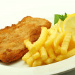 Cutlet with french fries — Stock Photo #27115573