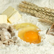Baking ingredients for cake and cookies — 图库照片