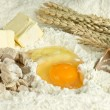 Baking ingredients for cake and cookies — Foto de Stock