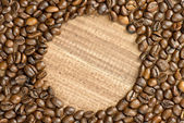 Cofee beans background — Stock Photo