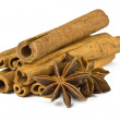 Texture image cinnamon sticks. — Stock Photo