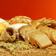 Fresh bread and wheat — Stock Photo