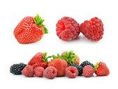 Strawberries and raspberries — Stock Photo