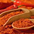 Red pepper and paprika — Foto de Stock