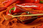 Red pepper and paprika — Stock Photo