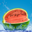 Watermelon in water — Stock Photo