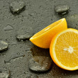 Stock Photo: Orange with spstones
