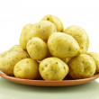 Potatoes on the plate — Stock Photo