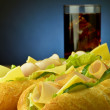 Sandwich with cola — Stock Photo #34163851