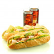 Sandwich with cola — Stock Photo #34199477
