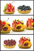 Cake with fruit and cream — Zdjęcie stockowe