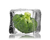 Brussels sprouts inside ice cube — Foto Stock