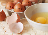 Frightened eggs — Stock Photo