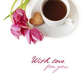 Breakfast with love — Stock Photo
