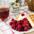 Breakfast with raspberry — Stock Photo #25802159