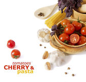 Italian vegetables and paster — Stock Photo