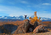 The subjugator of mountain peaks — Stock Photo
