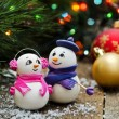 Festive snowmans — Stock Photo