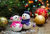 праздничный снеговик — Стоковое фото