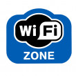 Stock Photo: Sign Wi-Fi Zone