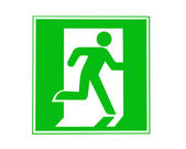 Direction of escape sign — Stock Photo