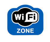 Sign Wi-Fi Zone — Stock Photo