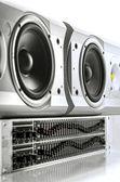 Equalizer and speakers — Stock Photo