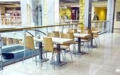 Kavárna v nákupním centru — Stock fotografie