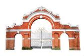 Oude poorten geïsoleerd — Stockfoto