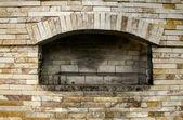 Empty Fireplace — Stockfoto