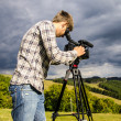 Videographer — Stock Photo