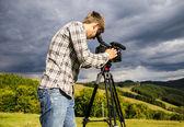 Kameramanı — Stok fotoğraf