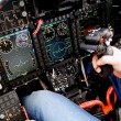 Cockpit of a military aircraft — Stock Photo