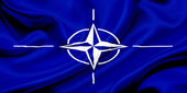 Flag of NATO — Stock Photo