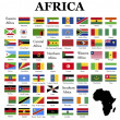 Flags of Africa  — Foto Stock