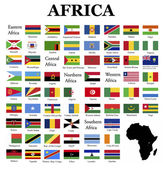 Flags of Africa — Stock Photo