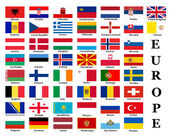 European country flags — Foto Stock
