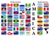 Flags of North and South America — Stock Photo