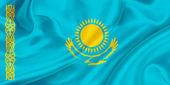 Bandeira do Cazaquistão — Fotografia Stock