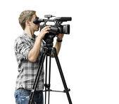 Video camera operator — Stock Photo