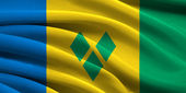 Flag of Saint Vincent and the Grenadines — Stockfoto