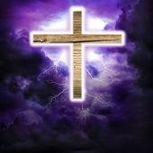 Cross in the sky — Stock Photo