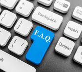 FAQ key  — Stock Photo