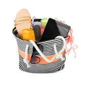 Beach bag with accessories — Stock Photo