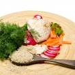 Stock Photo: Vegetable assortment with chicken and rice