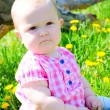 Beautiful little girl on summer meadow — Stock Photo