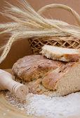 Whole wheat homemade bread — Stock Photo
