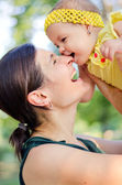 Happy mum and daughter — Stock Photo